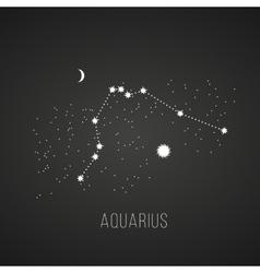 Astrology elements aquarius on black vector