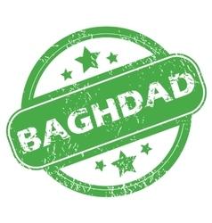 Baghdad green stamp vector