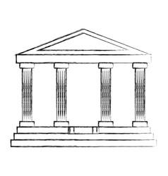 bank building symbol financial economy vector image