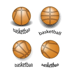 Basketball creative grunge logo design vector