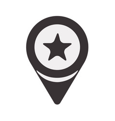 black search sign with star inside icon vector image