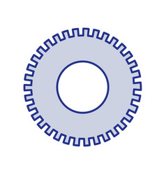 Blue silhouette of pinion icon vector