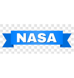 Blue tape with nasa title vector