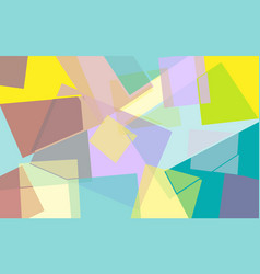 bright colored geometric background vector image