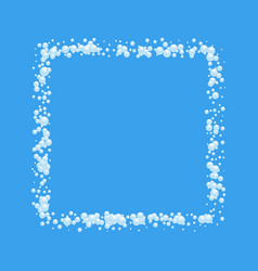 bubbles abstract frame on blue background vector image