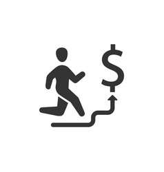 business stairs icon vector image