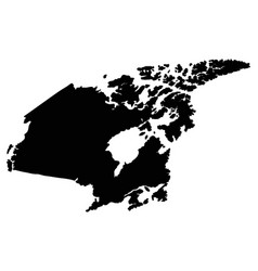canada map outline vector image