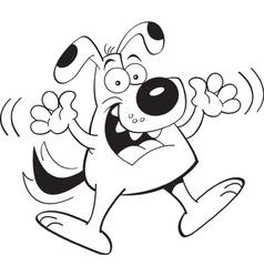 Cartoon dog jumping vector