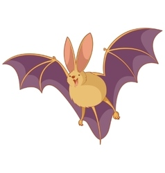 Cartoon happy bat vector