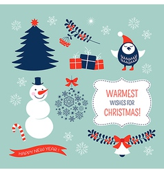 Christmas graphic elements set vector image