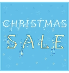 Christmas Sale Card for retail vector image