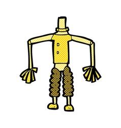 Comic cartoon robot body mix and match comic vector