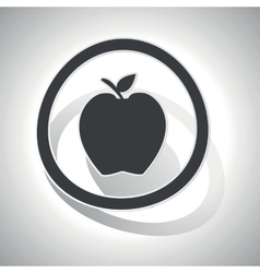Curved apple sign icon vector