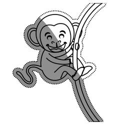 cute mokey cartoon vector image