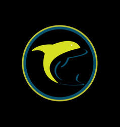 dolphin jumping in the water vector image