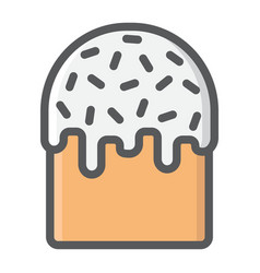 easter cake filled outline icon easter vector image