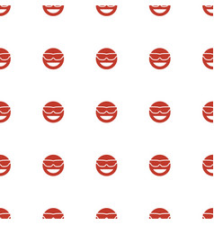 emot in sun glasses icon pattern seamless white vector image
