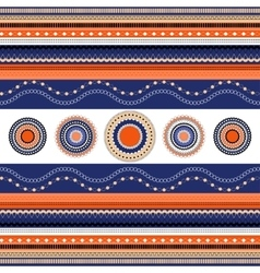 Ethnic boho seamless pattern Colorful border vector image