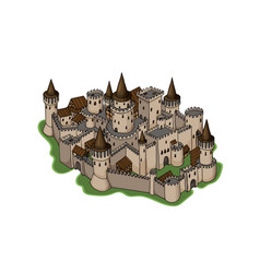 fantasy adventure sketch of old city vector image