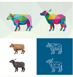 farm animal with polygonal geometric style vector image