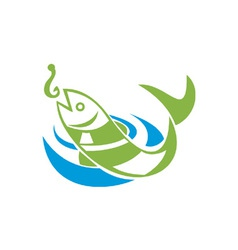 Fish Jumping For Bait Hook vector