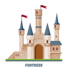 fortress castle kingdom fort towers fairy palace vector image