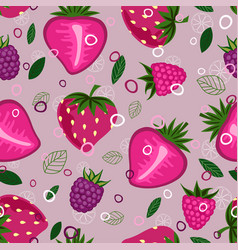 Fruit mix pattern 2 vector