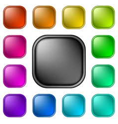 Glassy buttons for web vector