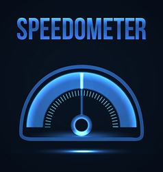 Glowing futuristic Speedometer vector