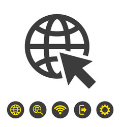 go to web icon on white background vector image