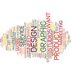 Graphic design studios text background word cloud vector