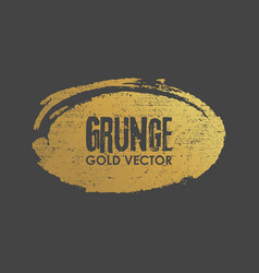 Grunge golden ellipse shape vector