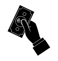 Hand with money vector