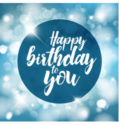 happy birthday with lights vector image