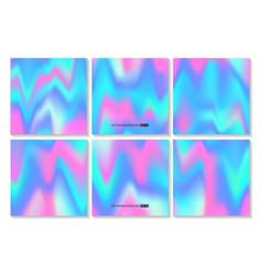 Hologram bright colorful backgrounds set vector