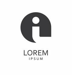 i letter logo icon vector image