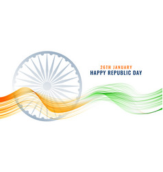 Indian happy republic day banner vector