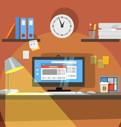 Interior working place vector