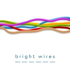 Isolated colorful wires on white background vector