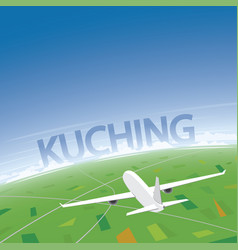 Kuching flight destination vector