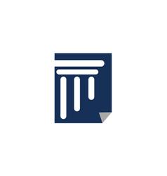 Legal document logo design template vector