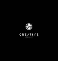 Letter sw creative business logo design vector