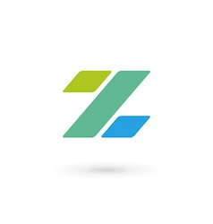 Letter z percent logo icon design template vector