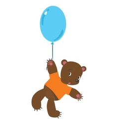Little bear with balloon vector