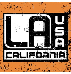 Los Angeles city Typography Graphic Grunge 2 vector image