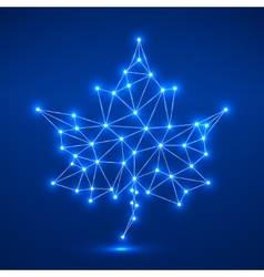 Maple leaf in abstract geometric shape vector image