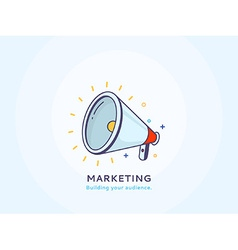 Marketing Icon with a Speakerphone vector