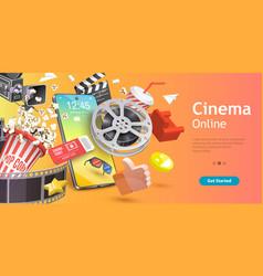 mobile cinema online movie app cinematography vector image