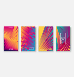 Modern business geometric template covers vector
