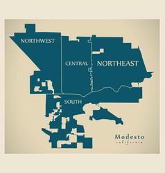 Modern city map - modesto california city the vector